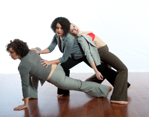 "Murphy/Smith Dance Collective's Jamie Erin Murphy, Laura Warnock,and Renee Danielle Smith in ""I am Woman"". Photo by Bill Shirley."