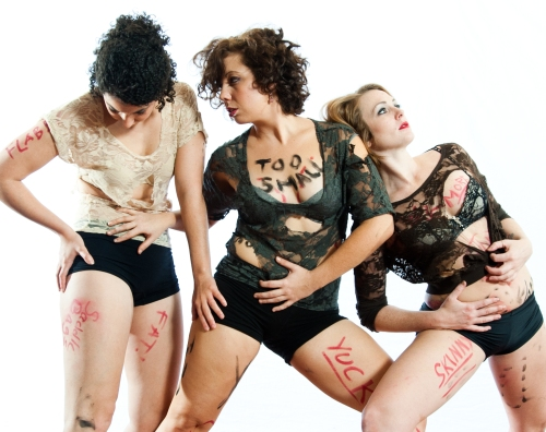 Murphy/Smith Dance Collective's Laura Warnock, Jamie Erin Murphy and Renee Danielle Smith. Photo by Bill Shirley.