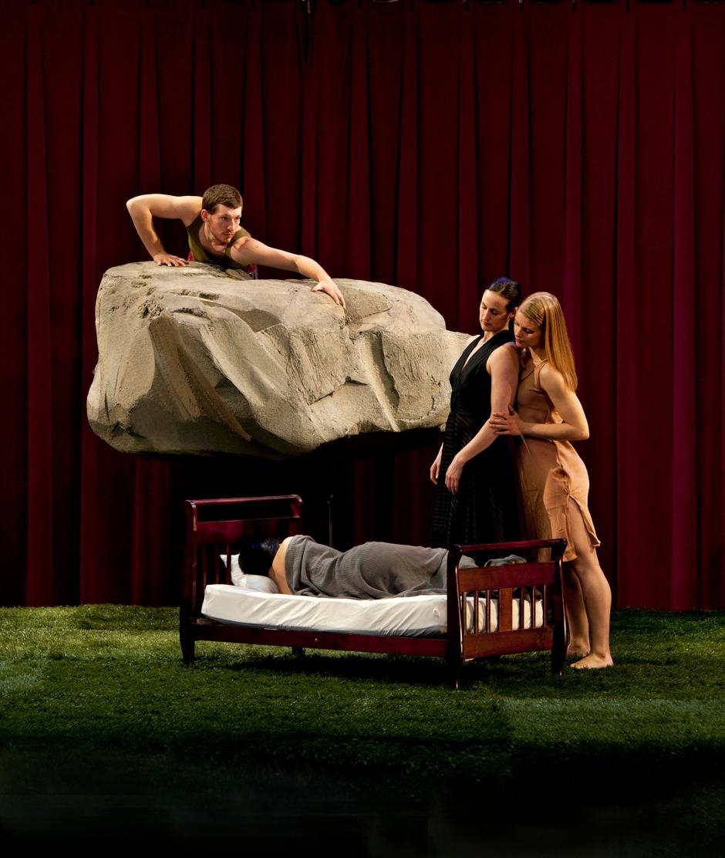 (L-R) Brent Luebbert, Liz Chang, Michele de la Reza and Kaitlin Dann in Attack Theatre's Soap Opera. Photo by  Martha Rial.