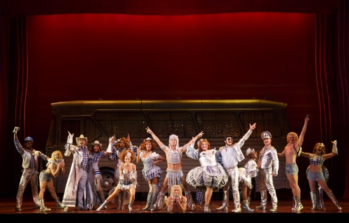 """Company of Priscilla in the number """"Go West"""" © Joan Marcus"""