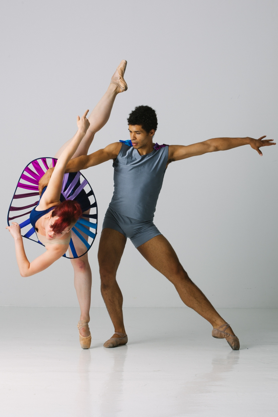 Texture Contemporary Ballet dancers Kelsey Bartman & Alan Obuzor. Photo by Katie Ging