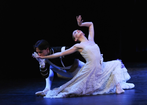 "From a prior performance in March 2013: Luca Sbrizzi & Alexandra Kochis in Antony Tudor's ""Jardin Aux Lilas (Lilac Garden)"". Photo by Rich Sofranko."