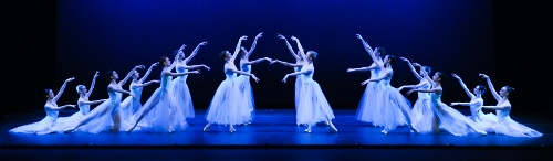 """Pittsburgh Ballet Theatre in George Balanchine's """"Serenade"""". Photo by Rich Sofranko"""