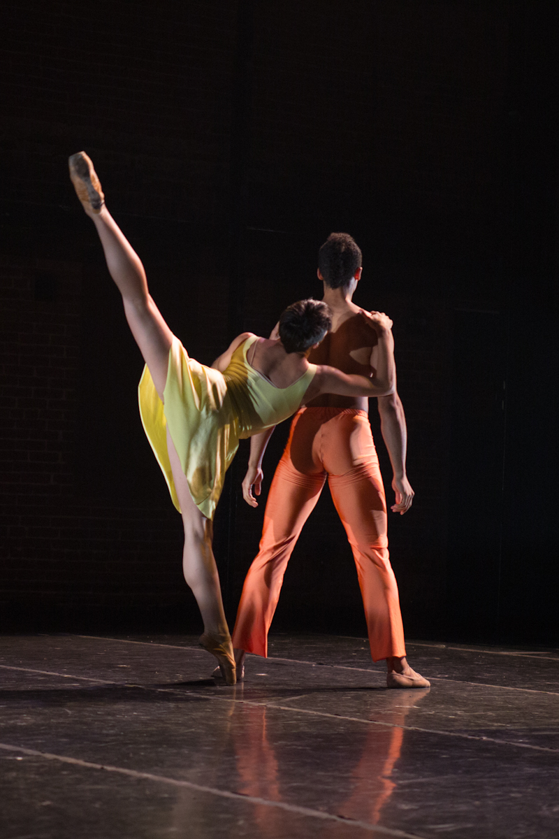 Texture Contemporary Ballet dancers Rachel Malehorn & Alan Obuzor. Photo by Katie Ging.