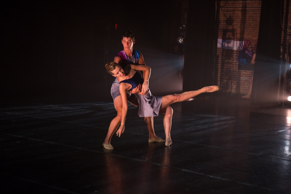 Texture Contemporary Ballet dancers Shannon Beiry & Kenny Corrigan. Photo by Katie Ging.