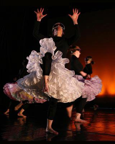 "Kalindi Stockton of MorrisonDance performs in Maree ReMalia's ""Inundation"".  Photo by Scott Radke."