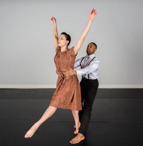 August Wilson Center Dance Ensemble's Rebekah Kuczma and Christopher Nolan. Photo by Renee Rosensteel.