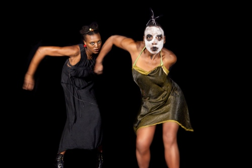 (l to r): Okwui Okpokwasili and Nora Chipaumire Photo by Antoine Tempe.