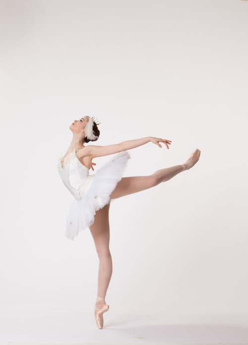A dancer as the white swan from Swan Lake. Photo by Duane Rieder.