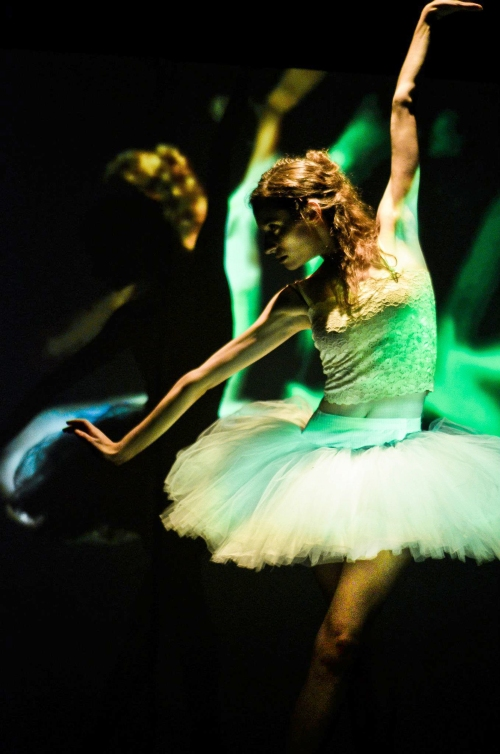 "Dancer Lydia Rakov in ""The Green Swan"".  Photo by Cassie K. Rusnak"