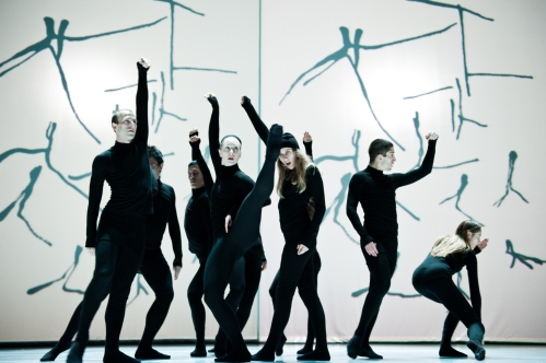 "Compagnie Marie Chouinard dancers in ""Henri Michaux: Mouvements"". Photo by Sylvie-Ann Paré."
