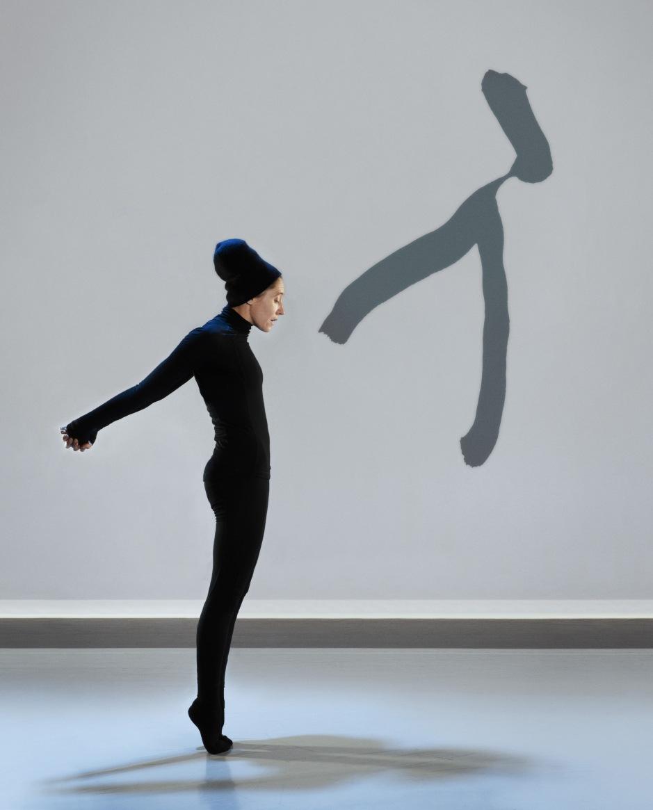 "Compagnie Marie Chouinard dancer Carol Prieur in ""Henri Michaux: Mouvements"". Photo by Marie Chouinard."