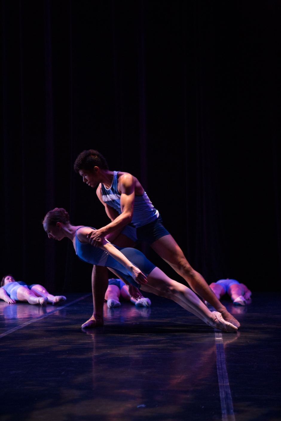 Texture Contemporary Ballet dancers Amanda Summer and Alan Obuzor. Photo by Katie Ging.