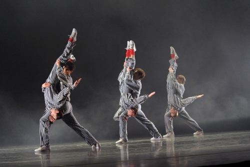 "PBT dancers in Twyla Tharp's ""In the Upper Room"". Photo by Rich Sofranko."