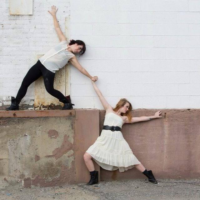 Jamie Murphy (left) and Renee Smith. Photo by Mark Simpson.