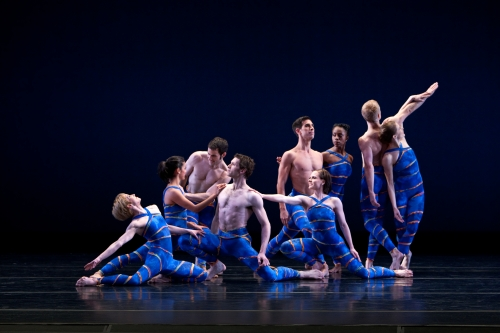 """Members of the Paul Taylor Dance Company in """"Mercuric Tidings,"""" which the ensemble performed Saturday in a concert presented by DanceCleveland. (Paul B. Goode)"""