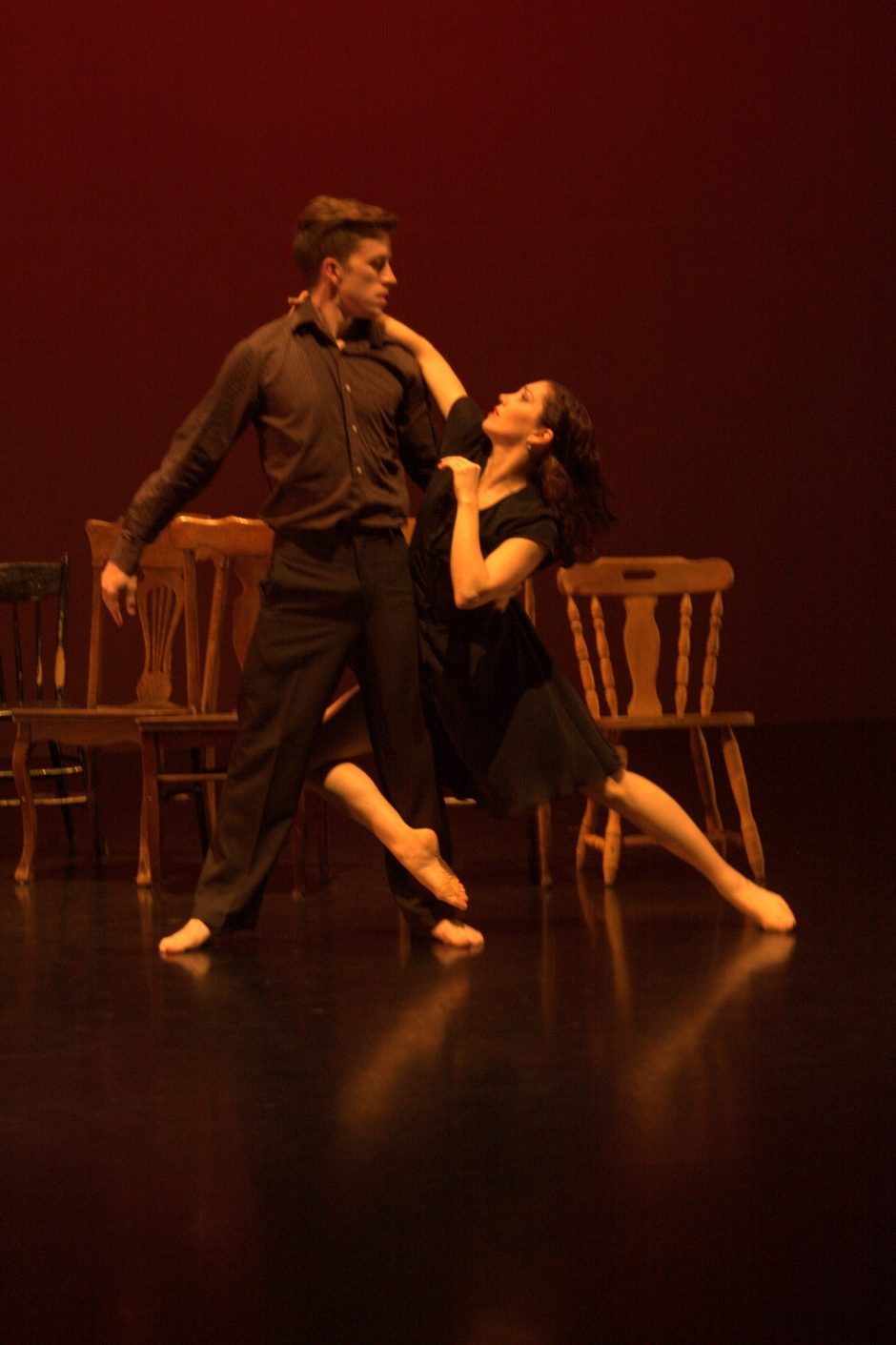 """Shannon Sterne and Ryan Andrew Dick in Sterne's """"Inundation"""". Photo by Brad Petot."""