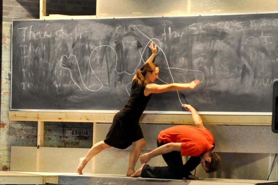 Attack Theatre's Ashley Williams and Simon Thomas-Train. Photo by Brian Cohen.