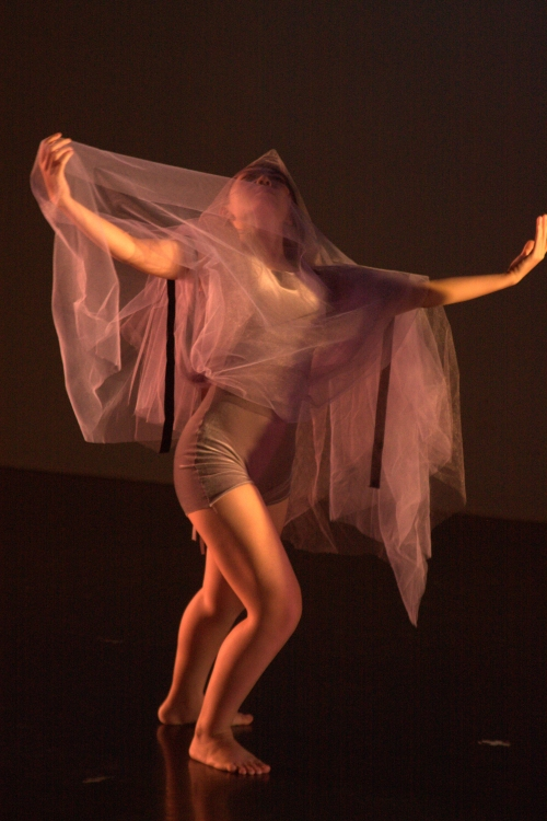 "ZiYing Cui in Karen Potter's ""Veiled Tears"". Photo by Brad Petot."