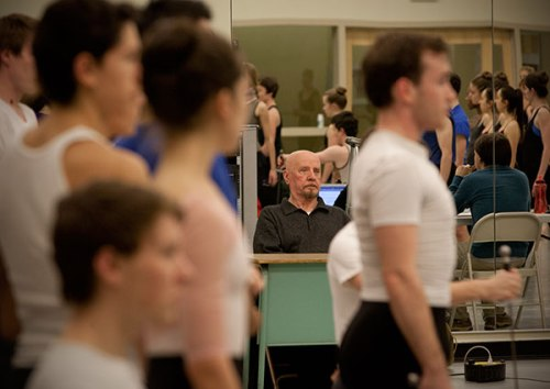 Nicolas Petrov observes Point Park dance students. Photo by Heather Mull.