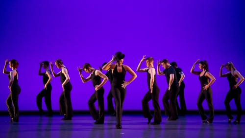 "Conservatory Dance Company in ""A Fosse Retrospective"". Photo by Jeff Swensen."