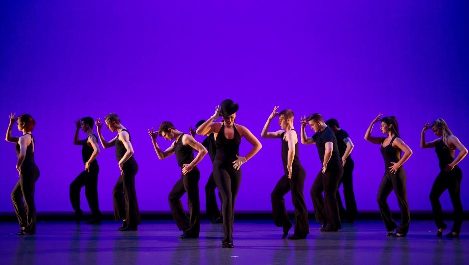 "Conservatory Dance Company in ""A Fosse Retrospective"". Photo by Jeff Swensen."