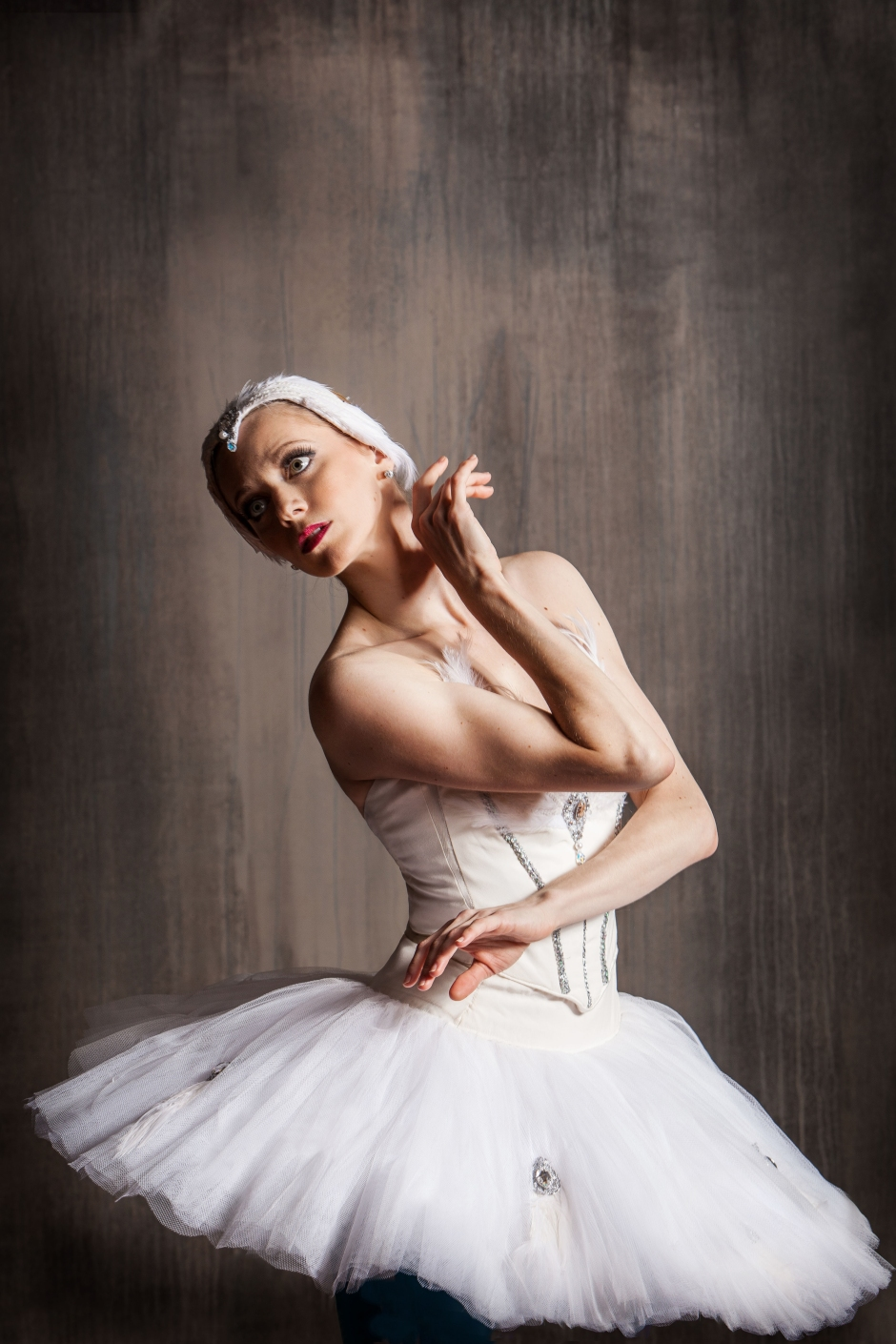 """Pittsburgh Ballet Theatre's Julia Erickson as the White Swan in """"Swan Lake"""". Photo by Duane Rieder."""
