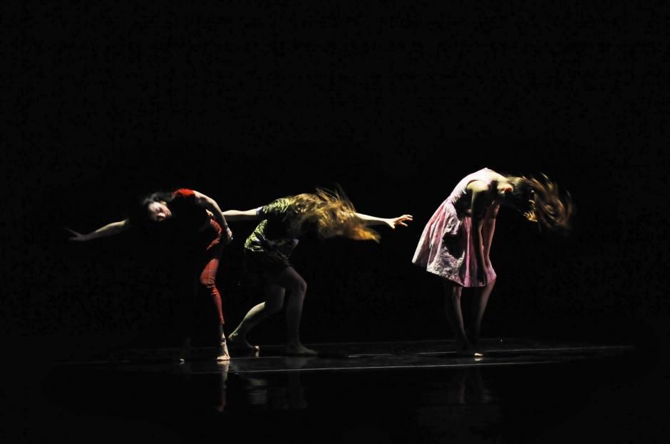 """GroundWorks DanceTheater dancers in Rosie Hererra's  """"House Broken""""."""