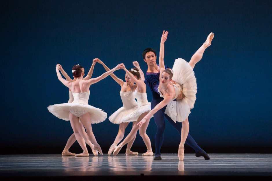 "George Balanchine's ""Symphony in C"". Photo by Jennifer Zmuda."
