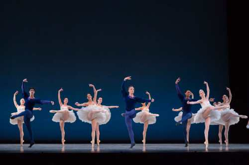 "George Balanchine's ""Symphony in C"". Photo by Jennifer Zmuda."