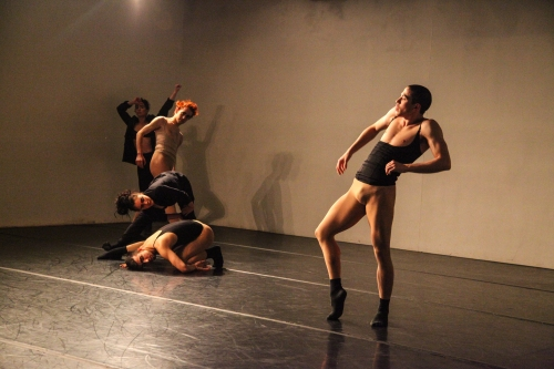 Sidra Bell Dance New York rehearses garment. Photo by David Flores.