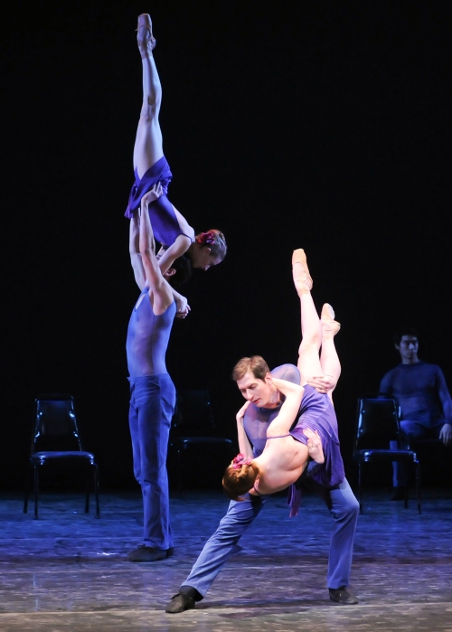 "Elysa Hotchkiss & Stephen Hadala (Front) in Dwight Rhoden's ""Smoke 'n Roses"". Photo by Rich Sofranko."