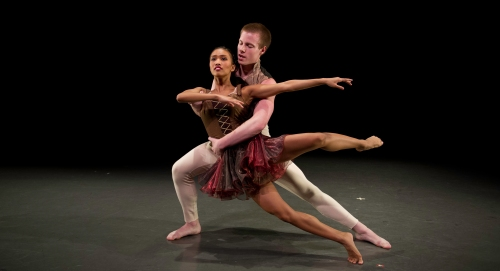 """CDC dancers in David Parsons' """"Wolfgang"""". Photo by Jeff Swensen."""