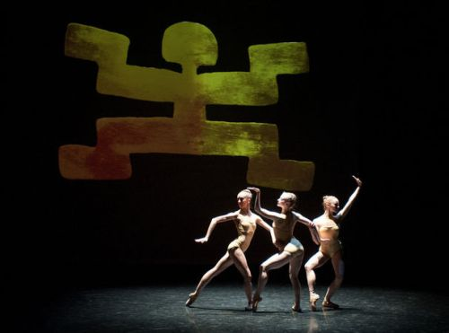 "Grand Rapids Ballet dancers in Annabelle Lopez Ochoa's ""Memorias Del Dorado"" . Photo by Chris Clark."