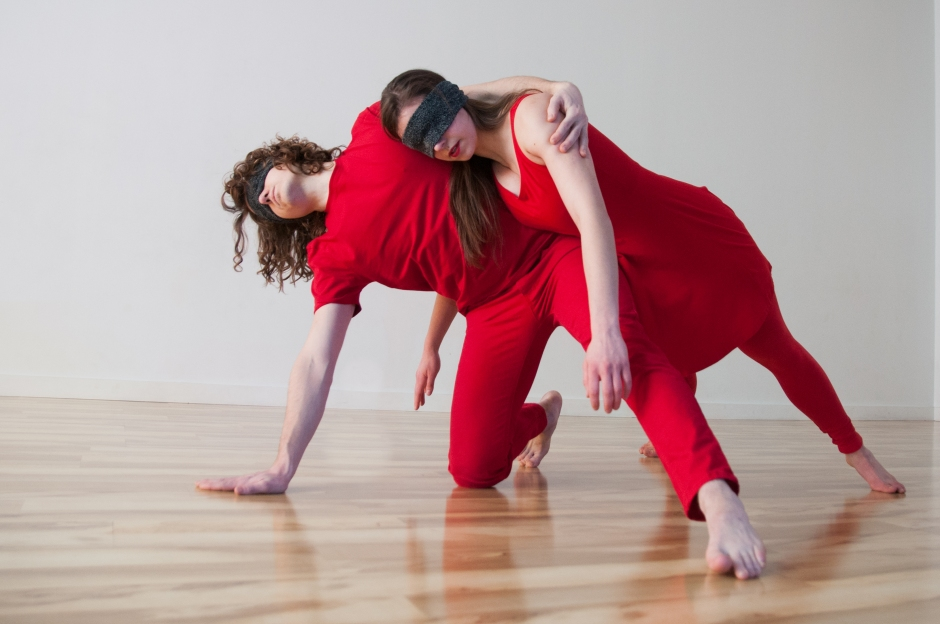 """Alexandra Bodnarchuk and Zek Stewart in """"CONNOTATIONS: unknown"""". Photo by Lindsay Dill."""