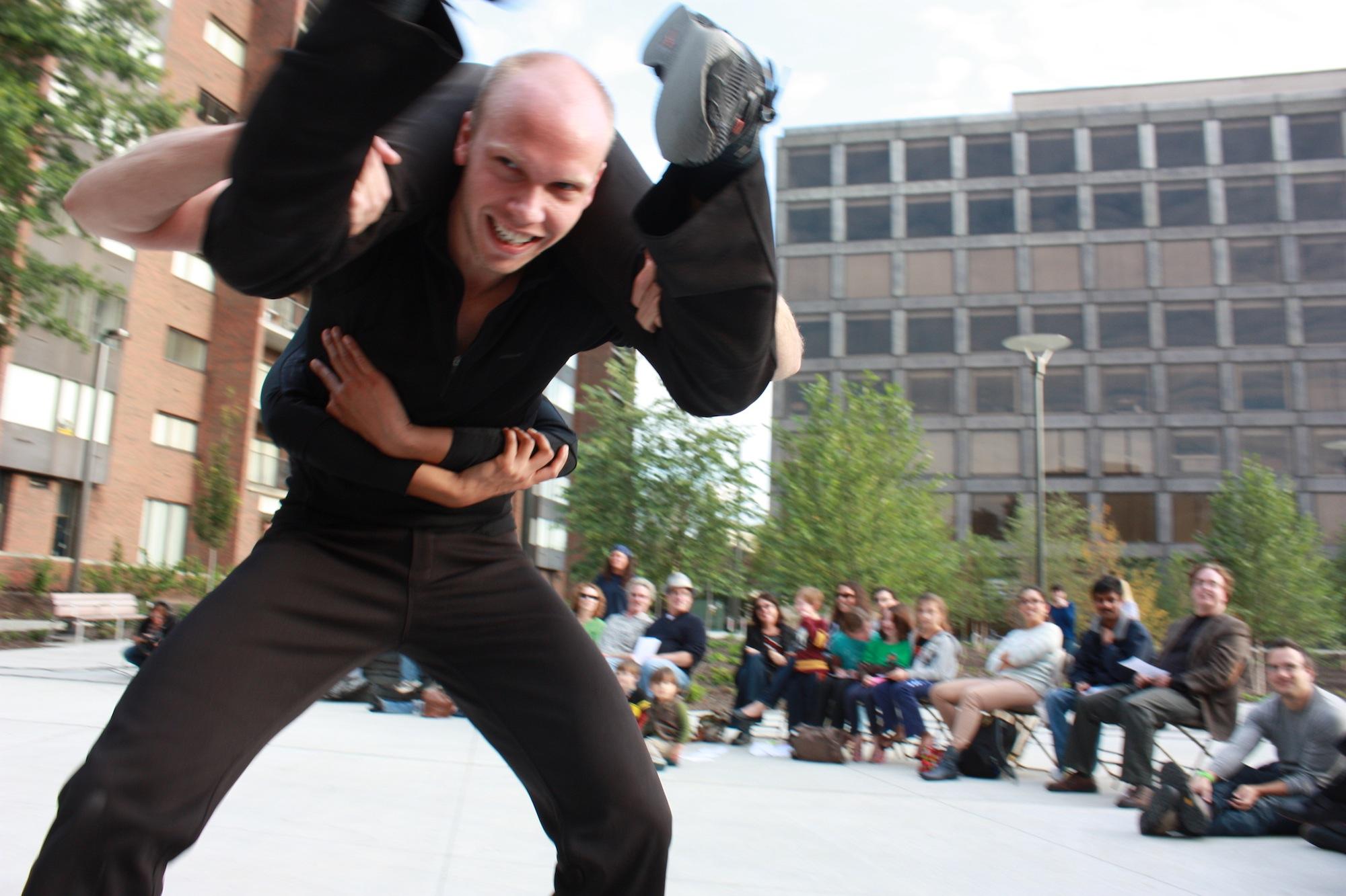 Attack Theatre's Dane Toney and Liz Chang. Photo courtesy of Attack Theatre.