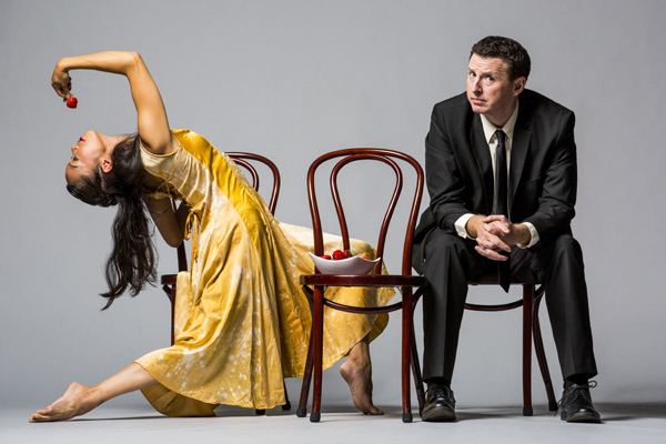 Hubbard Street Dancer Jessica Tong and The Second City's Tim Mason. Photo by Todd Rosenberg.