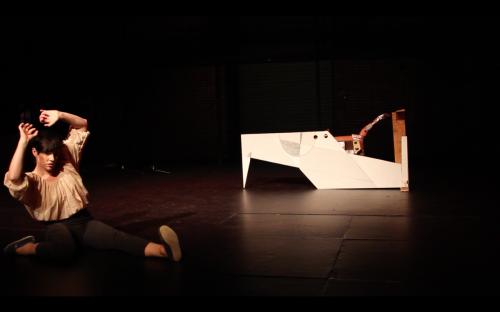 """Jil Stifel in """"my dna"""". Photo by Blaine Siegel."""
