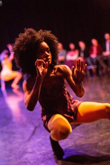 Ashley Duke of Staycee Pearl dance project, Dec. 19. Photo by Mark Simpson.