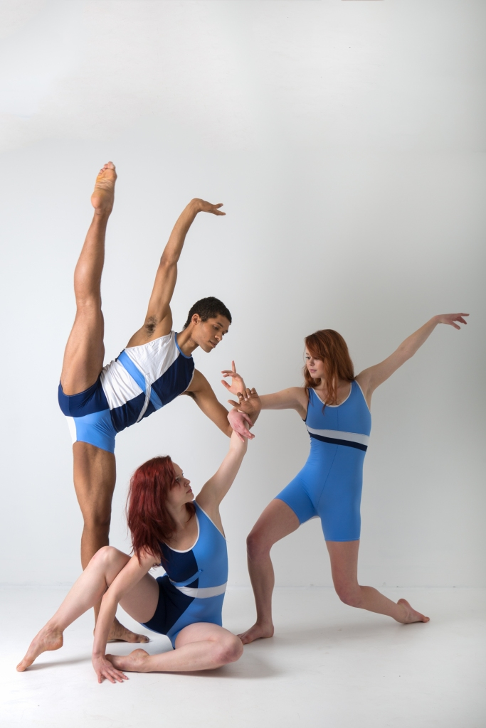 Kelsey Bartman (seated), Alan Obuzor and Brynn Vogel of Texture Contemporary Ballet. Photo by Katie Ging.