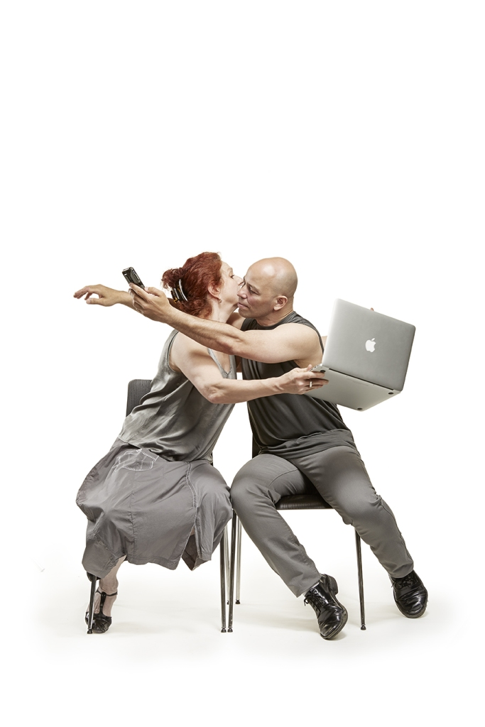 """Beth Corning and Arthur Aviles in  CorningWorks' """"Parallel Lives"""".  Photo by Frank Walsh c.2014"""