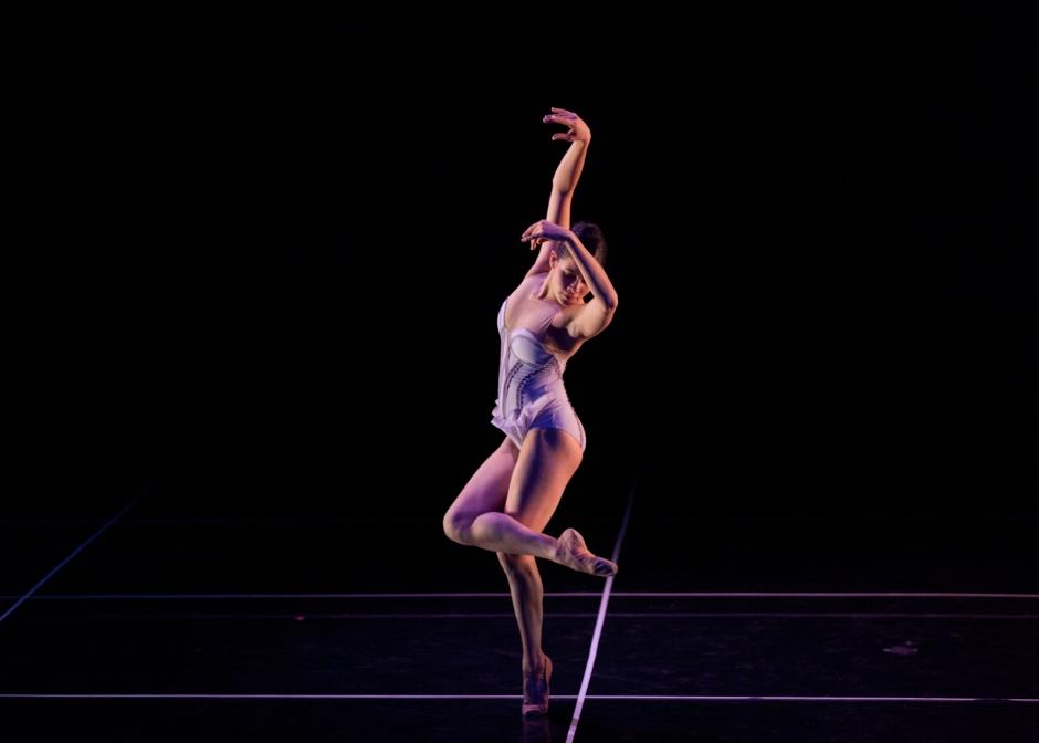 """Dancer Seia Rassenti in Norbert De La Cruz lll's """"Square None"""".  Photo by Rosalie O'Connor."""