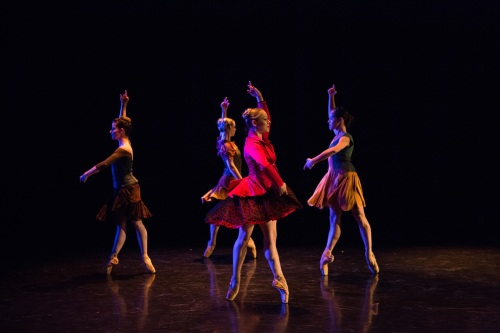 "BalletMet dancers in Brian Enos' ""Les Absents"". Photo by Jennifer Zmuda."