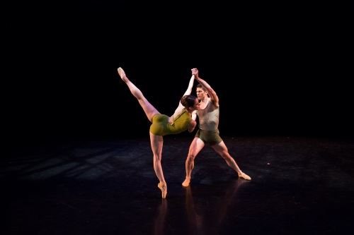 "BalletMet dancers Caitlin Valentine Ellis and David Ward in Matthew Neenan's ""On the Other Side"".  Photo by Jennifer Zmuda."