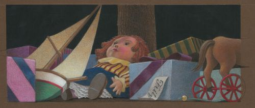 "Illustration by Chris Van Allsburg for Grand Rapids Ballet's ""The Nutcracker."""