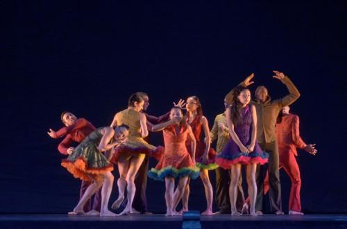 """Ballet Hispanico dancers in Eduardo Vilaro's """"Asuka""""."""