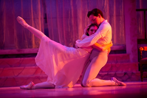 "Cassidy Burk and Hunter Mikles in Nicolas Petrov's ""Romeo and Juliet"". Photo by Jeff Swensen."