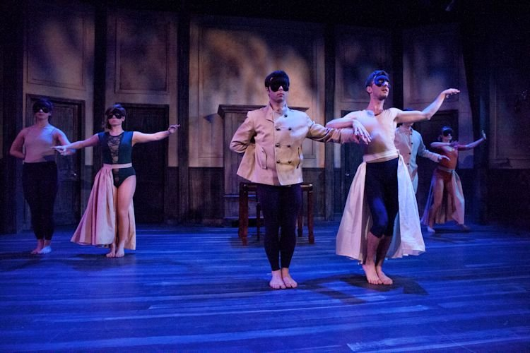 """The cast in fireWALL Dance Theater's """"Uproar"""". Photo by Heather Mull"""