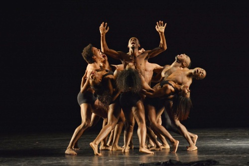 "Lula Washington Dance Theatre in an excerpt from Washington's ""Search for Humanism"". Photo by Mark Horning & Co."