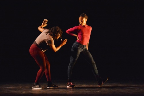 "Camille A. Brown & Dancers in Brown's ""Black Girl: Linguistic Play."" Photo by Mark Horning & Co."